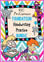 Foundation Handwriting | Practice | BUNDLE | VIC PreCursive