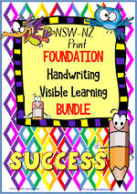 Foundation Handwriting | Visible Learning | BUNDLE | NSW-NZ Print