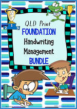 Foundation Handwriting | Management | BUNDLE | QLD Print
