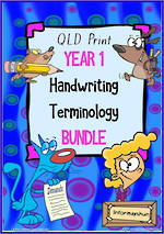 Year 1 | Handwriting | Terminology | BUNDLE | QLD Print