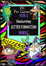 Year 2 | Handwriting | Letter Formation | BUNDLE | VIC PreCursive