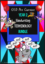 Year 2 | Handwriting | Terminology  | BUNDLE | QLD PreCursive