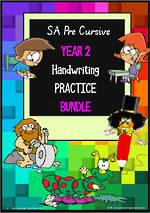 Year 2 | Handwriting | Practice | BUNDLE | SA PreCursive