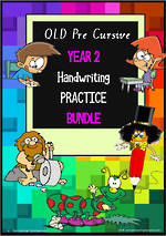 Year 2 | Handwriting | Practice | BUNDLE | QLD PreCursive