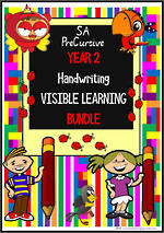 Year 2 | Handwriting |  Visible  Learning | BUNDLE | SA PreCursive