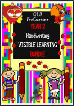 Year 2 | Handwriting |  Visible  Learning | BUNDLE | QLD PreCursive