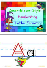 Handwriting | Letter Formation | Display | Zaner-Bloser Manuscript