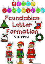 Christmas  | Foundation Handwriting | Letter Formation | VIC Print