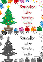 Christmas | Foundation Handwriting | Letter Formation Practice | QLD Print