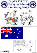 Australia Day | Early Handwriting | Trace and Colour