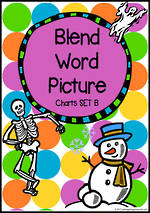 Beginning Blend  | Word | Picture Charts - Set B