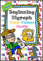 Beginning  Digraph | Picture-Word | Charts