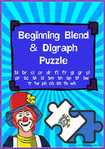 Beginning Blend  & Digraph Puzzle