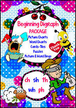 Beginning Digraph |  ch, sh, th, wh, ph | PACKAGE
