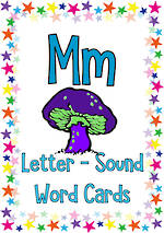 Letter Mm | Word | Cards | NSW-NZ Print