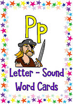 Letter Pp | Word | Cards | VIC Print