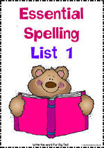 Essential Spelling | List 1 | Activities