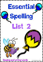 Essential Spelling | List 2 | Activities