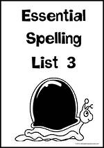 Essential Spelling | List 3 | Charts