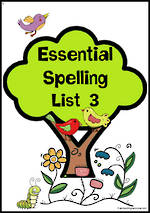 Essential Spelling | List 3 | Activities