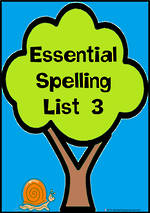 Essential Spelling   List 3   Charts