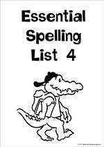 Essential Spelling | List 4 | Charts