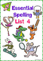 Essential Spelling | List 4 | Activities