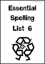Essential Spelling   List 6   Charts