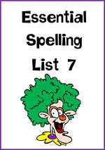 Essential Spelling | List 7 | Charts