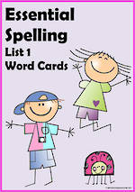 Essential Spelling | List 1| Word Cards