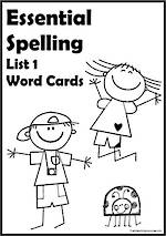 Essential Spelling | List 1 | Word  Cards