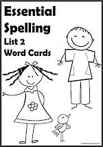 Essential Spelling | List 2 | Word Cards