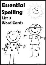 Essential Spelling | List 3 | Word Cards
