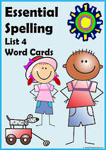 Essential Spelling | List 4 | Word Cards