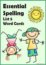 Essential Spelling | List 5 | Word Cards