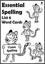 Essential Spelling | List 6 | Word Cards