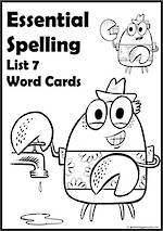 Essential Spelling | List 7 | Word Cards