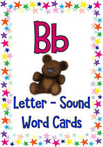 Letter Bb | Word | Cards | NSW-NZ Print