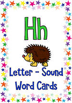 Letter Hh | Word | Cards