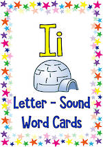 Letter Ii | Word | Cards | QBeginners
