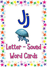 Letter Jj | Word | Cards | Sassoon Style