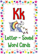 Letter Kk | Word | Cards | VIC PreCursive