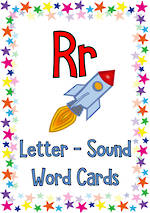 Letter Rr | Word | Cards | Zaner-Bloser Style