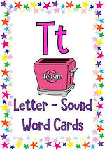 Letter Tt | Word | Cards | KBbubblegum
