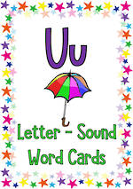 Letter Uu   Word   Cards   NSW-NZ Print