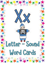 Letter Xx | Word | Cards | Zaner-Bloser Style