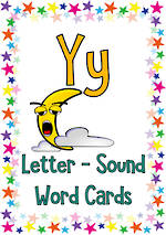Letter Yy | Word | Cards | VIC Print