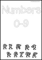 Numbers 0-9 | Black And White | Charts