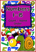 Numbers 1-15 | Learning Intention Chart and Cards | Sassoon Style
