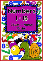 Numbers 1-15 | Chart and Cards | NSW- NZ Print